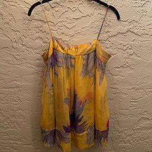 Diane Von Furstenburg Floral Cami Silk Blouse Sz 0